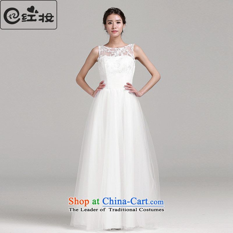 Recalling that the spring and summer of 2015, hates makeup and new wedding dresses Korean word shoulder lace stylish and simple to align the wedding H14759 white?L