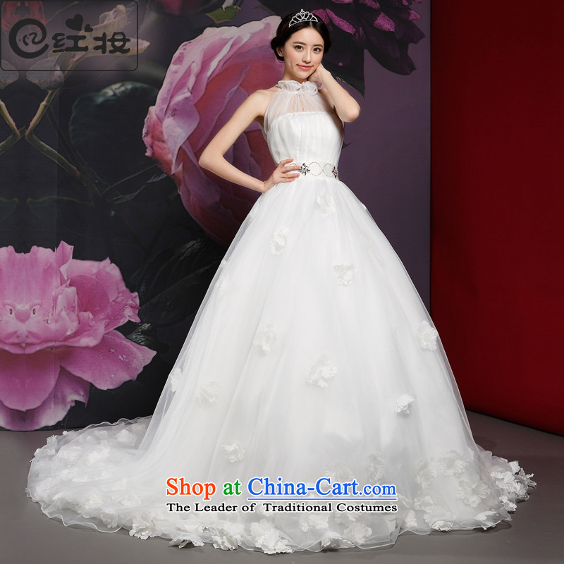 Recalling that hates makeup and wedding tail-type also dress in the spring of 2015, the new bride elegant lace new H14728 White?XL
