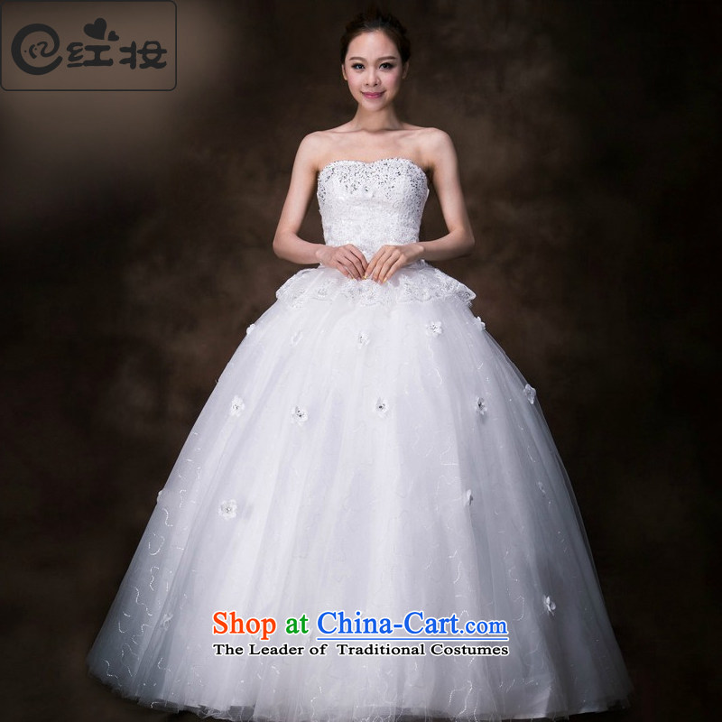 Recalling that the spring and summer of 2015, hates makeup and wipe the new stylish wedding chest Korean anointed chest bon bon skirt minimalist align to wedding H13751 white S