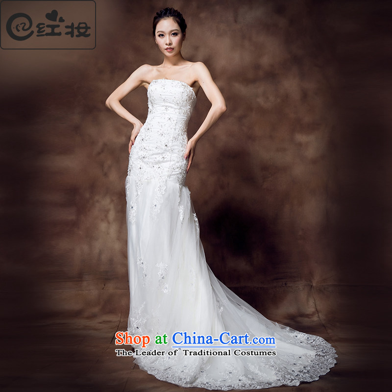 Recalling that hates makeup and stylish Sau San spring and summer photo building themes and chest crowsfoot small trailing wedding dresses 2015 NEW?H12132?white?S