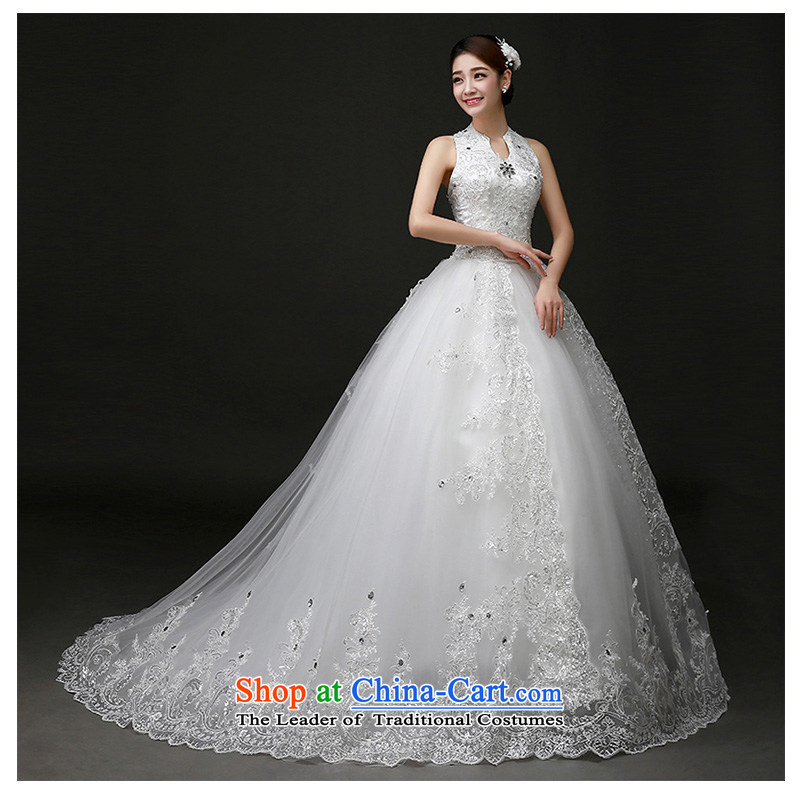 The beautiful yarn-tail also wedding new 2015 irrepressible tail wedding dress video thin stylish Korean Sau San tie factory genuine direct White XL