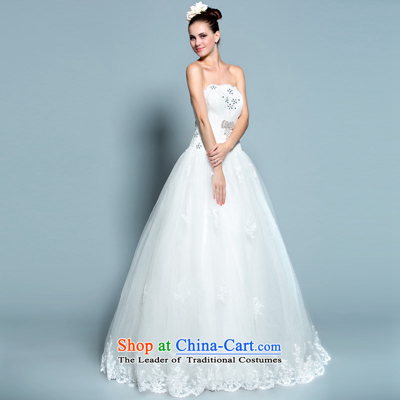A lifetime of 2014 New wedding dresses Princess Mary Magdalene chest bon bon skirt to align the wedding聽20140383聽white聽spot 160_84A M code