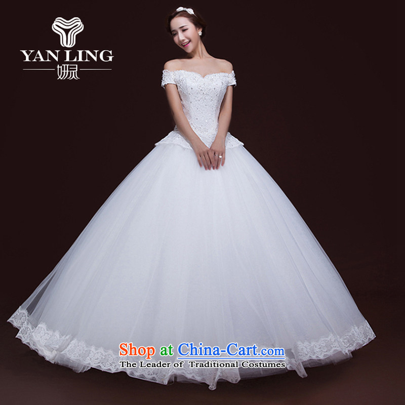 Charlene Choi Ling 2015 autumn and winter new wedding dresses bridal lace Korean word shoulder anointed chest to align the Sau San wedding�L