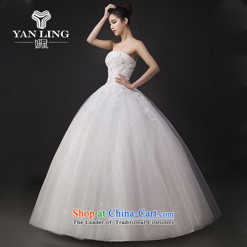 Wedding dresses new spring 2015 on-chip lace straps to align graphics Sau San thin bon bon skirts and chest marriage XL