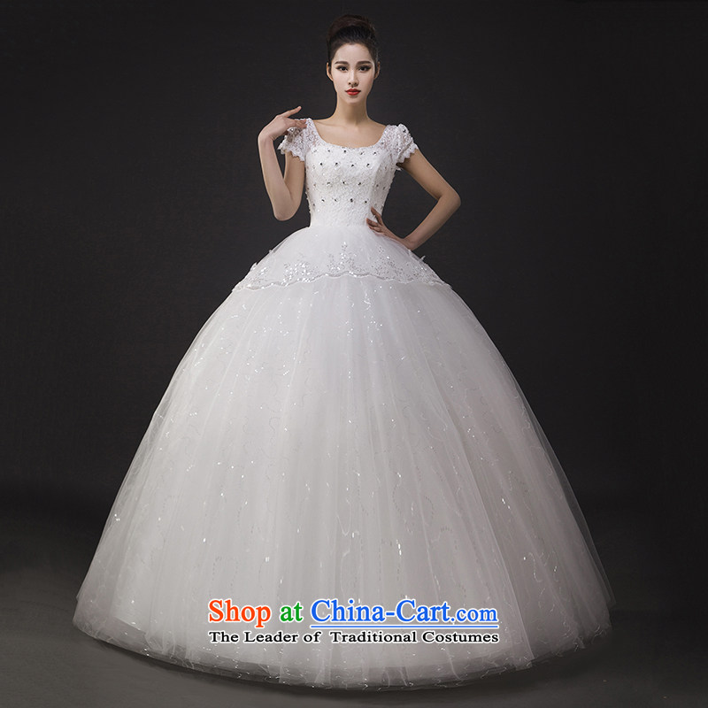 The spring of 2015, the Korean word shoulder bags shoulder lace Sau San video thin large marriage to align bon bon Kwan Ling wedding dress聽XXL