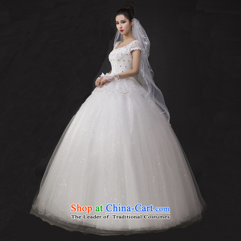 The spring of 2015, the Korean word shoulder bags shoulder lace Sau San video thin large marriage to align bon bon Kwan Ling wedding dress XXL, Charlene Choi spirit has been pressed shopping on the Internet