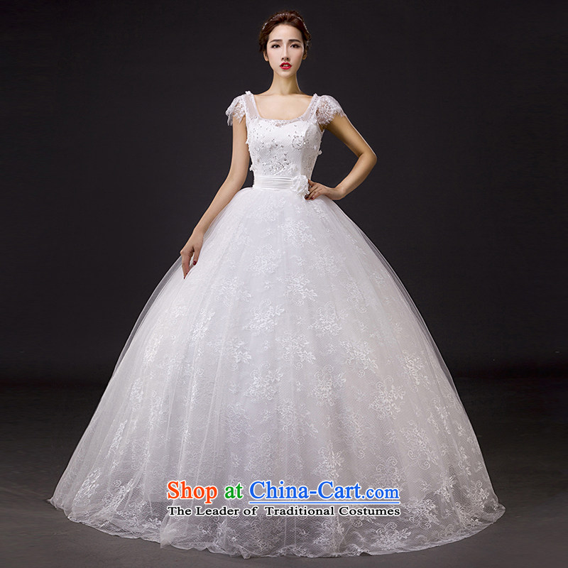 2015 Spring bride wedding dresses new stylish lace cover thick shoulder to align the large Korean Sau San video thin?S