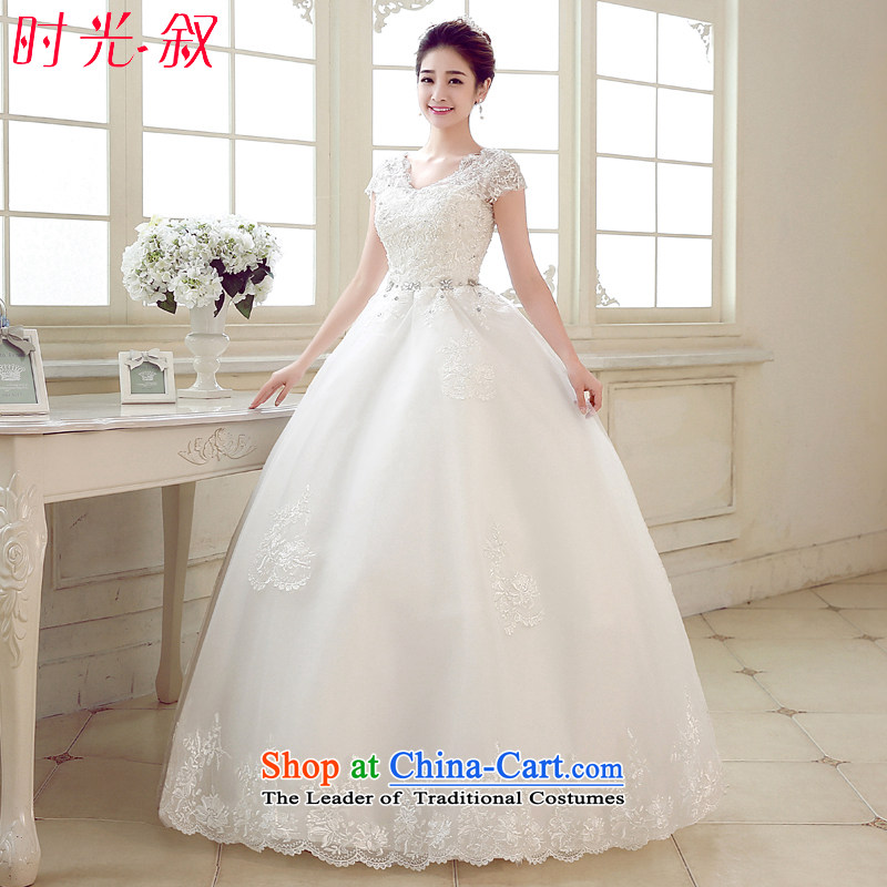 Time Syrian pregnant women high wedding dresses waist new?2015 autumn and winter bride to align the large shoulders thick mm video thin Korea Wedding White?XXL
