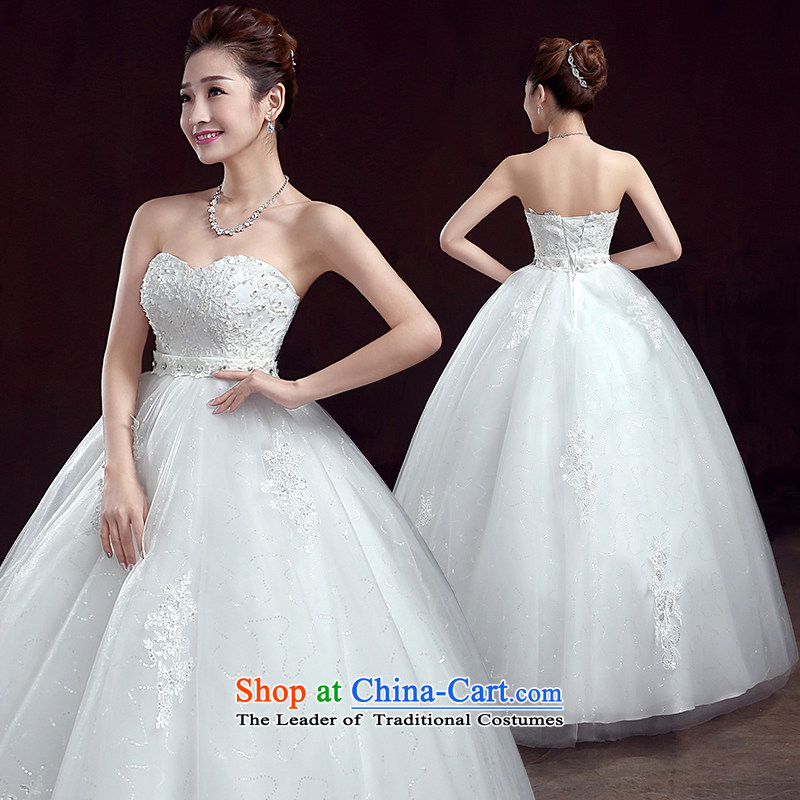 True Love pregnant women married married a wedding dress Top Loin of New 2015 Spring large bride anointed chest Korean thick mm video thin White聽XL