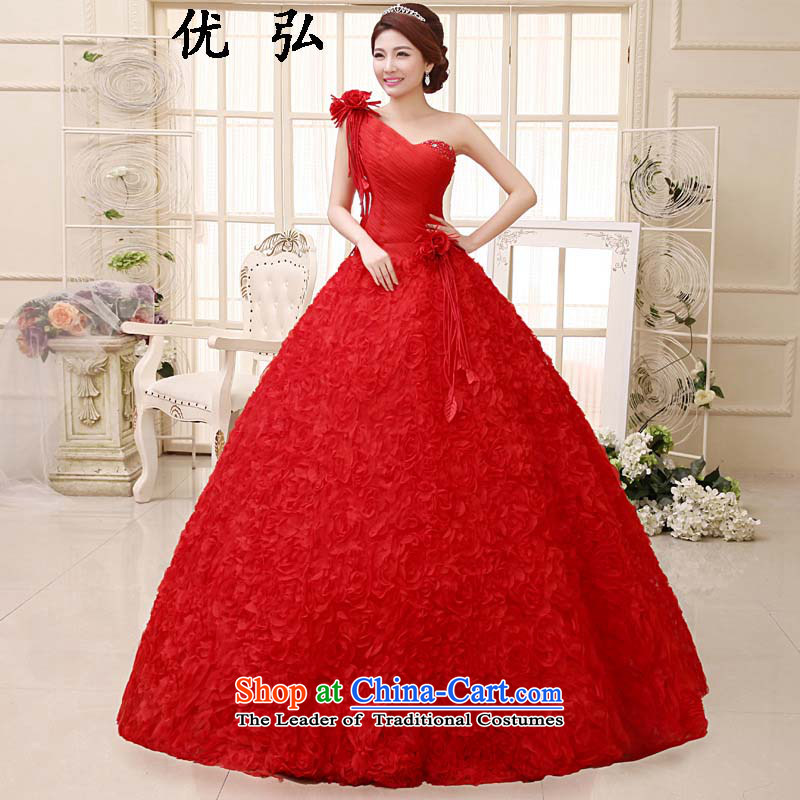 Optimize video 2015 Summer Wedding Dress Korea Red version bride back strap shoulder wedding hs007 S