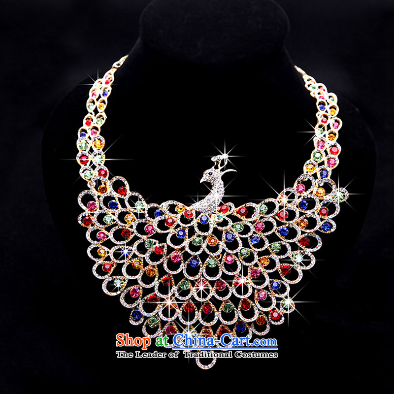 Rain-sang yi deluxe wedding jewelry & Exp water diamond necklace marriages multimedia diamond necklace earrings crown kitXL026+HG21color four piece of rain is yi , , , shopping on the Internet