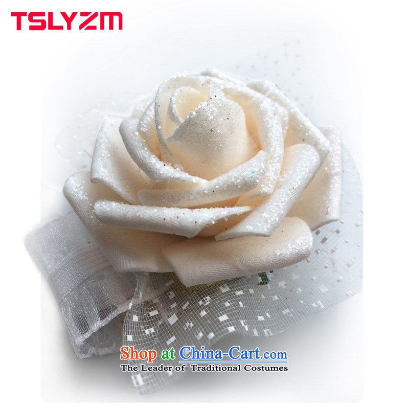 Tslyzm bride wedding dresses wrist strap is bright rose bonus flower wedding accessories champagne color