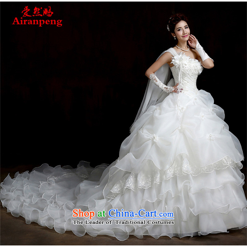 Korean shoulder tail large Fat MM video thin tail wedding like Princess Mary as high-end wedding custom?clients to the size to 2015 do not return