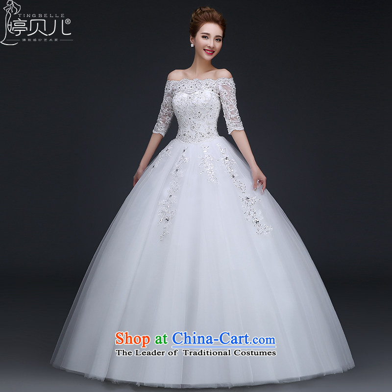 Beverly Ting wedding dresses 2015 Spring New marriages and chest of the word stylish wedding to align the shoulder straps for larger video thin White XL