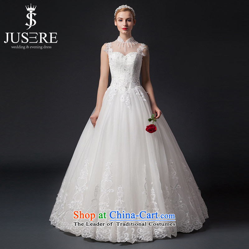There is a sunny terrace-yuk Korean brides wedding wedding dress lace shoulders to align the White?2