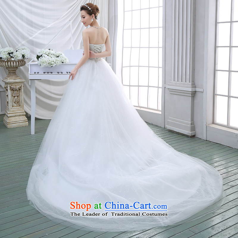 Wedding dresses new 2015 Spring tail bride anointed chest video thin Korean wedding tail lace white聽XL, darling Bride (BABY BPIDEB) , , , shopping on the Internet