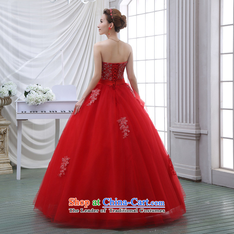 The spring and summer 2015 new stylish Korean diamond ornaments with breast height large waist to align graphics thin pregnant women bride wedding dresses red red聽XXL, baby Bride (BABY BPIDEB) , , , shopping on the Internet