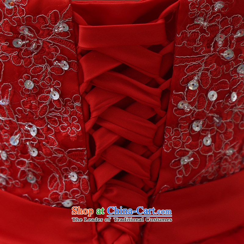 The spring and summer 2015 new stylish Korean diamond ornaments with breast height large waist to align graphics thin pregnant women bride wedding dresses red redXXL, baby Bride (BABY BPIDEB) , , , shopping on the Internet