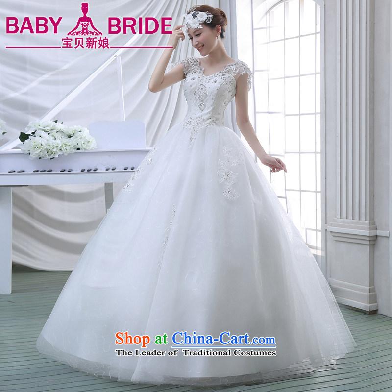 2015 Spring New Korean Sau San video thin lace breast tissue petticoats elegant retro Repair Word wedding shoulder White�XL