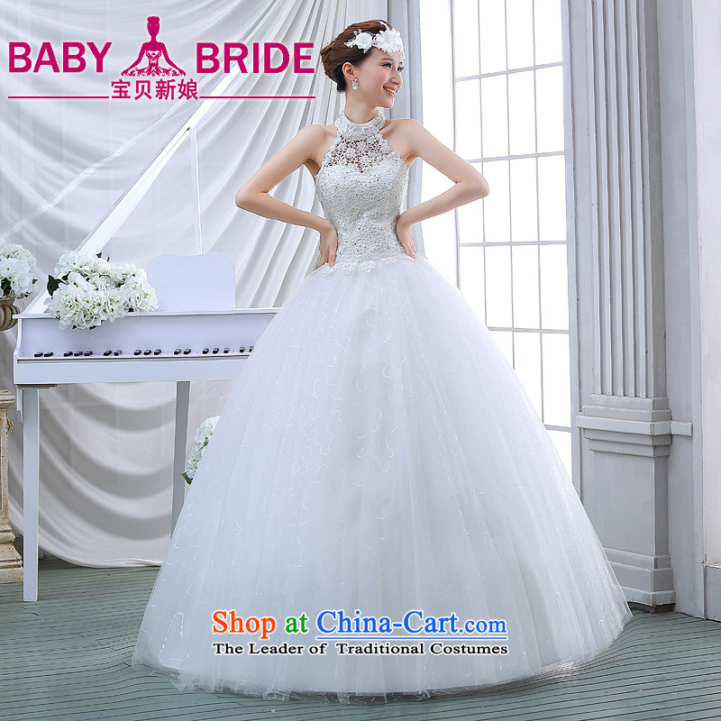 Wedding dress spring 2015 winter thick Korean large retro Graphics alignment with thin also wedding winter bride white?S