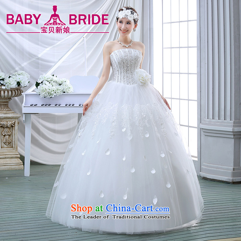 The spring of 2015, Diamond Korean brides edition alignment with Chest Sau San large white dress code wedding dress princess lace white stylish?S