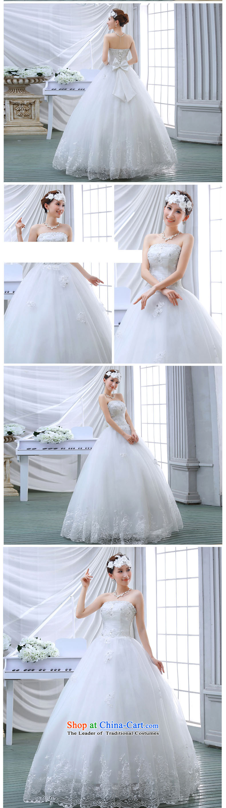 Wedding dresses spring 2015 the new Korean brides to align the princess lace bon bon light drill video thin wiping the chest wedding White M pictures, prices, brand platters! The elections are supplied in the national character of distribution, so action, buy now enjoy more preferential! As soon as possible.