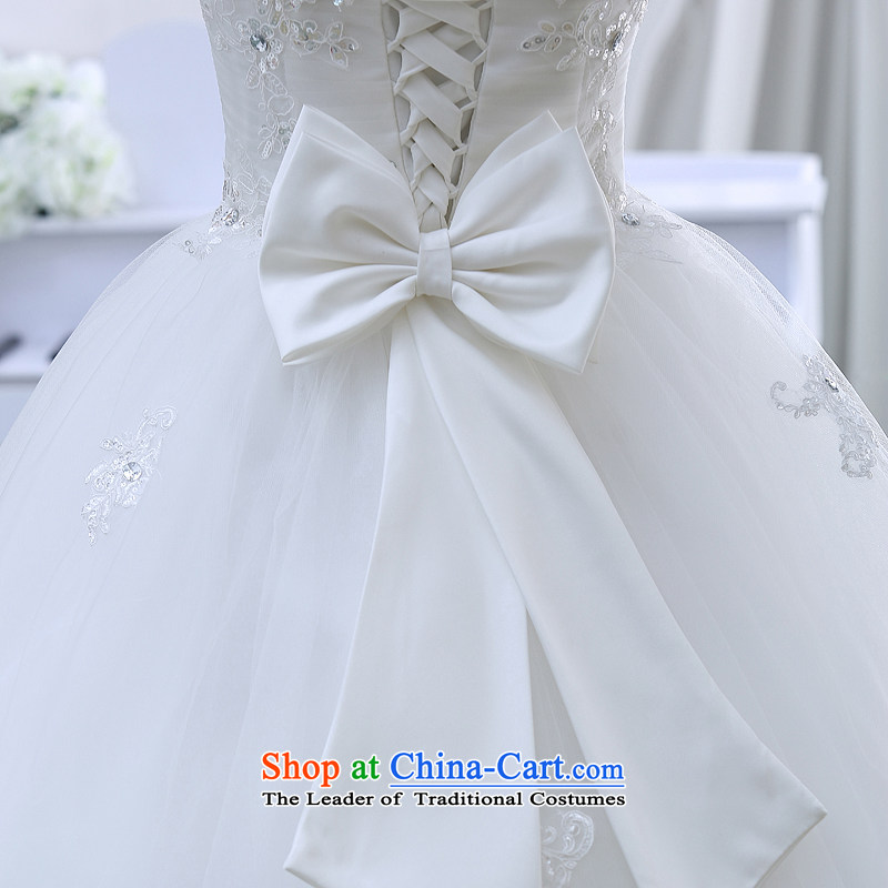 Wedding dresses spring 2015 the new Korean brides to align the princess lace bon bon light drill video thin wiping the chest wedding White M TREASURE (BABY BPIDEB bride) , , , shopping on the Internet