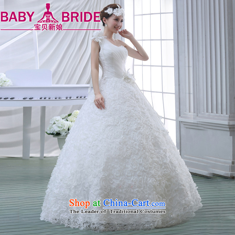 Wedding dress 2015 new Korean bridal lace to align the large spring marriage evening dress small Trailing White?XL