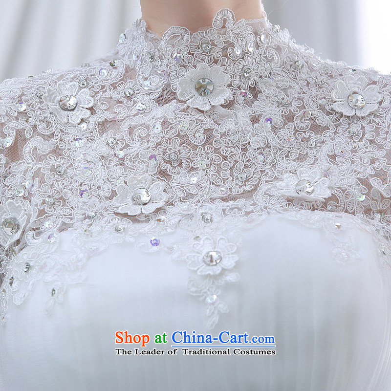Diamond lace back Korean Princess Bride straps a field shoulder wedding dresses spring 2015 New White S Demi Moor Qi , , , shopping on the Internet