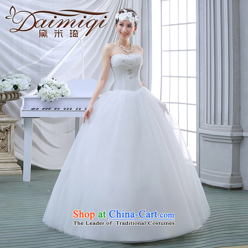 The bride wedding dresses 2015 new spring and summer Korean anointed chest Sau San sleeveless simplicity to align the large luxury big white�S