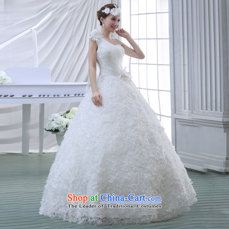 Wedding dress 2015 new Korean bridal lace to align the large spring marriage evening dress small trailing white XL, Demi Moor Qi , , , shopping on the Internet