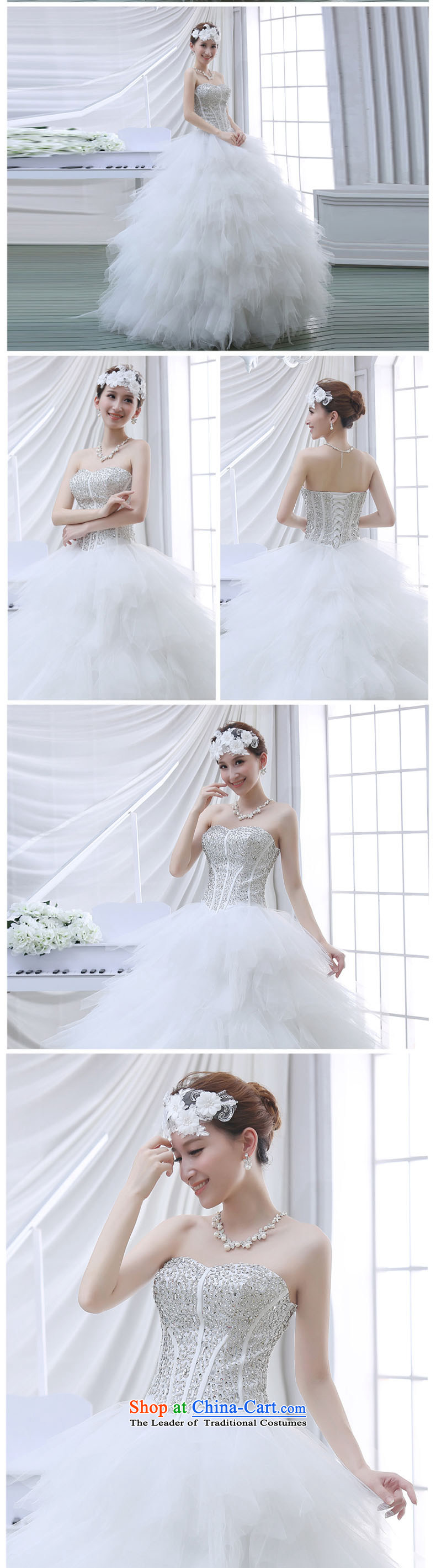 2015 new large tail and chest Korean water drilling bon bon Skirts 7 bride wedding dresses White聽XL Photo, prices, brand platters! The elections are supplied in the national character of distribution, so action, buy now enjoy more preferential! As soon as possible.