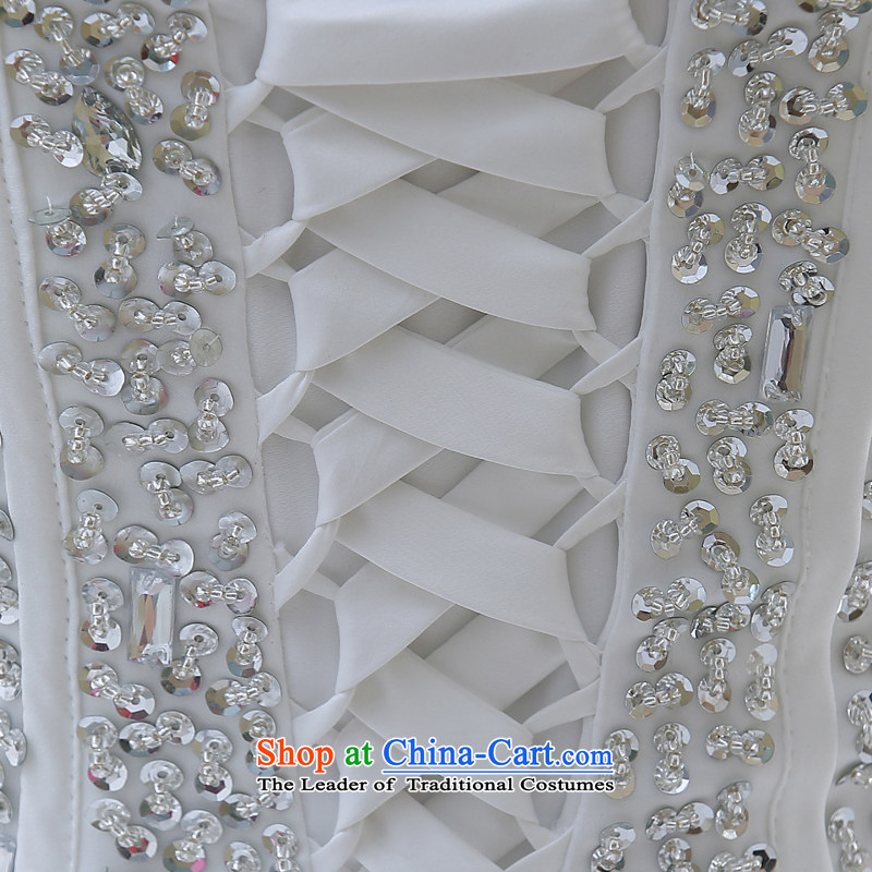 2015 new large tail and chest Korean water drilling bon bon Skirts 7 bride wedding dresses White聽XL, Demi Moor Qi , , , shopping on the Internet