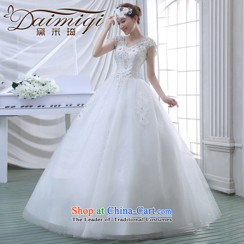 2015 Spring New Korean Sau San video thin lace breast tissue petticoats elegant retro Repair Word wedding shoulder White?M