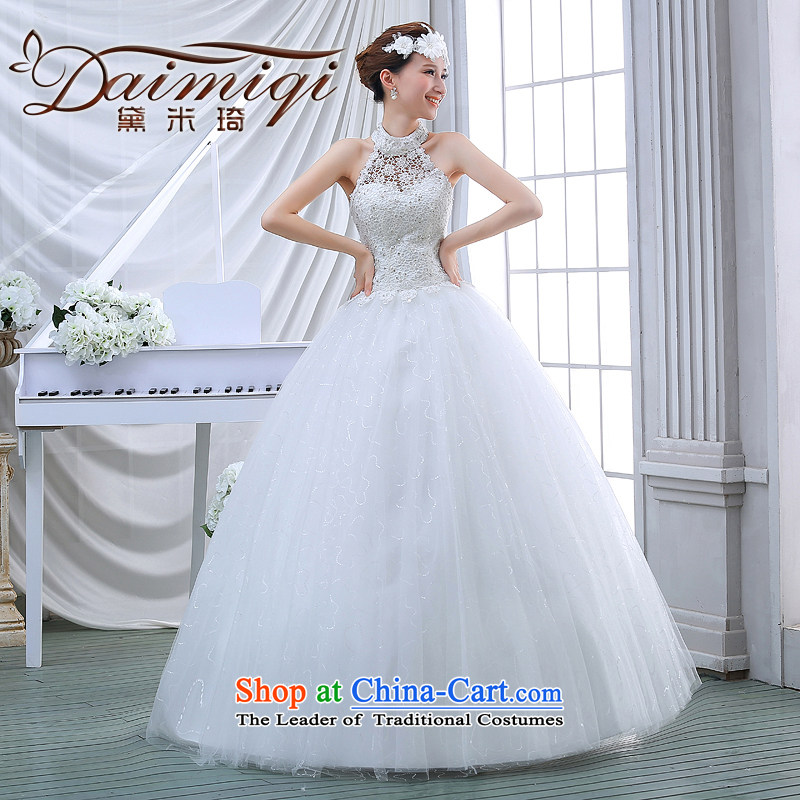Wedding dress spring 2015 winter thick Korean large retro Graphics alignment with thin also wedding winter bride White�M