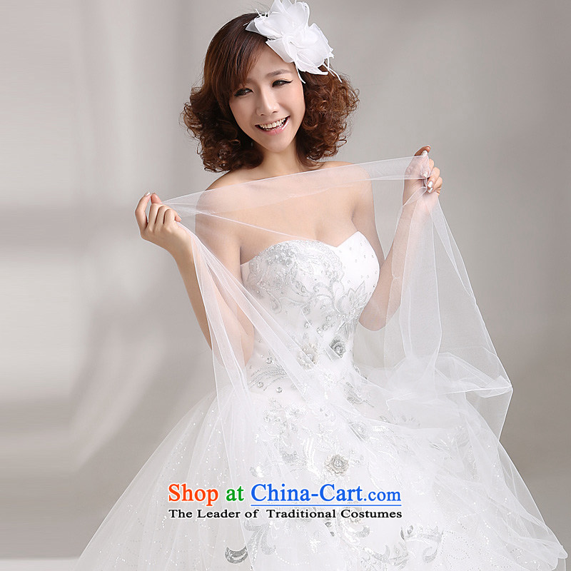 Wedding dresses new 2015 Korean sweet Princess on chip flowers Korean water drilling and chest to wedding white white form do other code plus 20