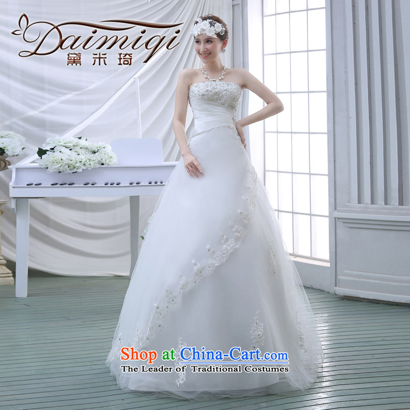 The new Korean Princess Mary Magdalene chest on drill stylish graphics thin large fat mm lace bride wedding dresses Spring 2015 White?XXL