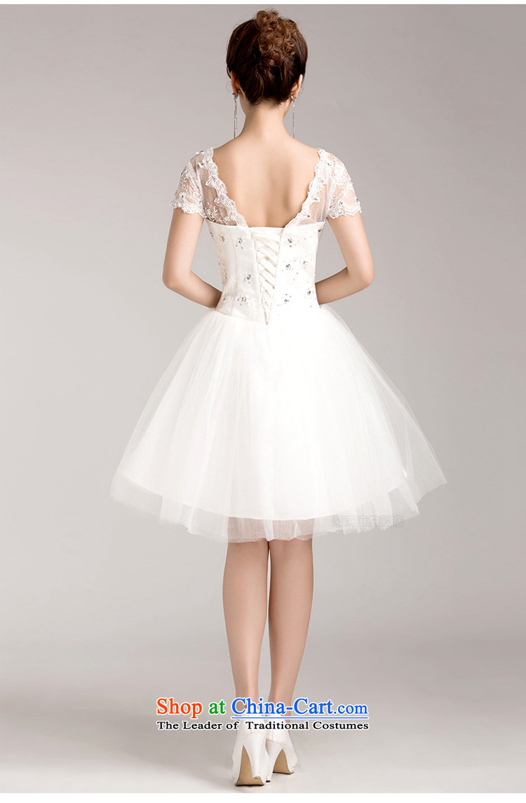 The bride minimalist wedding dress sweet princess bon bon skirt package shoulder lace short-sleeved short of straps wedding in spring and summer white聽picture, prices, S brand platters! The elections are supplied in the national character of distribution, so action, buy now enjoy more preferential! As soon as possible.