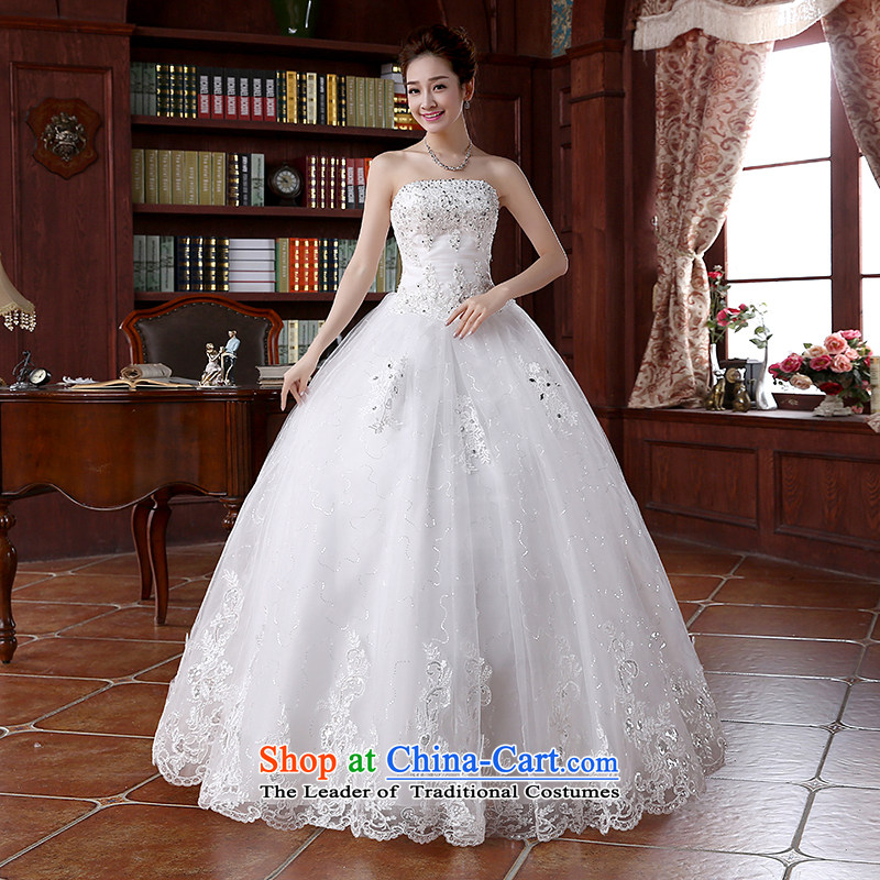 2015 Spring/Summer new lace on-chip integrated graphics alignment with thin to Sau San bon bon skirts and chest wedding dresses White�M