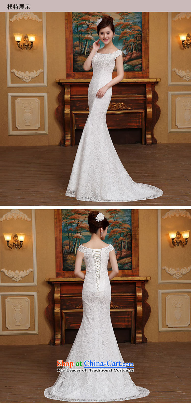 2015 Spring/Summer new word shoulder crowsfoot wedding dresses small trailing straps Sau San Video Foutune of thin lace shoulders WhiteXL Photo, prices, brand platters! The elections are supplied in the national character of distribution, so action, buy now enjoy more preferential! As soon as possible.