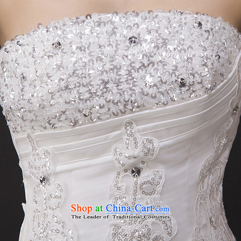 Wedding dresses new spring 2015 on-chip lace straps to align graphics Sau San thin bon bon skirt and white聽M Kennedy Chest Marriage Chamber Full , , , shopping on the Internet