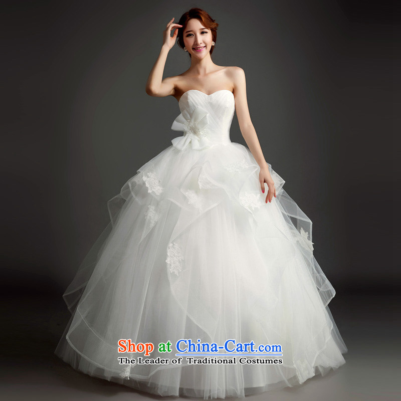 Wedding dress 2015 Spring/Summer new bon bon princess skirt Korean brides custom wedding dress minimalist wiping the chest wedding White聽XL, Ho full Chamber , , , shopping on the Internet