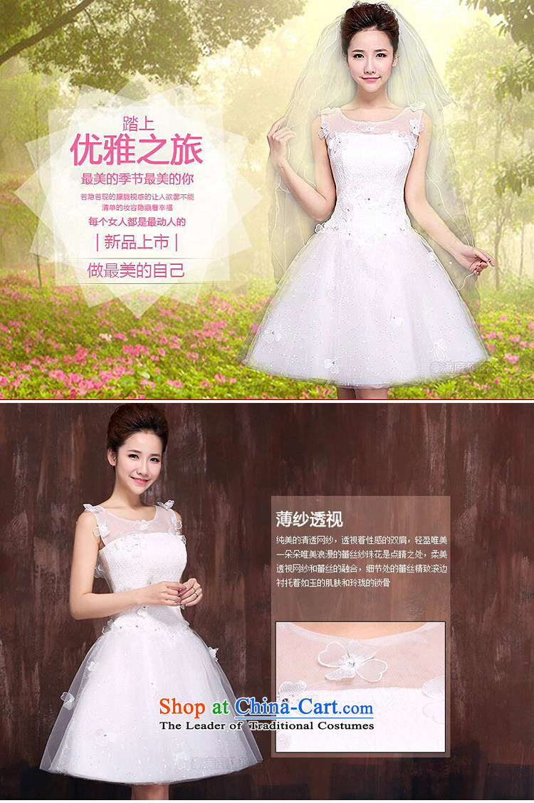 The bride wedding dresses new 2015 stylish and simple Korean short word, princess shoulder white Wedding Theme Sau San long L picture, prices, brand platters! The elections are supplied in the national character of distribution, so action, buy now enjoy more preferential! As soon as possible.