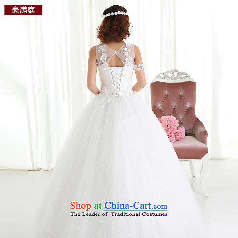 The bride wedding dresses new 2015 stylish and simple Korean short word, princess shoulder white Wedding Theme Sau San long) , L Ho full Chamber , , , shopping on the Internet