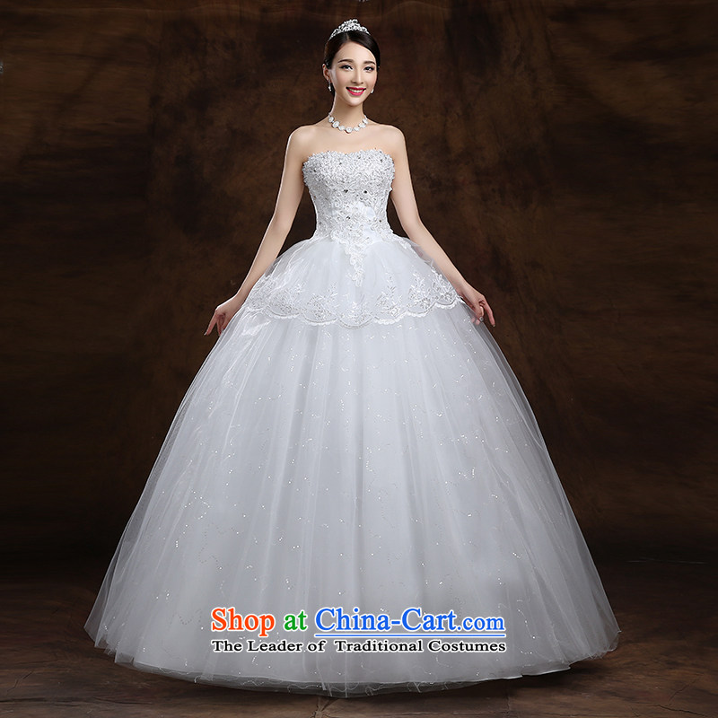 The first white into about the new 2015 Spring dress Korean brides white breast tissue of the funds from the alignment of the Sau San White XXL