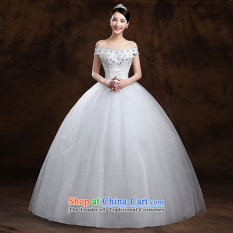 The first white into about聽2015 Autumn bride video thin sweet sexy word shoulder wedding diamond jewelry lace minimalist align to wedding dresses white tailored contact customer service