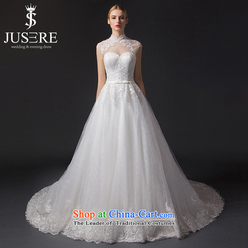 There is a stunning�new 2015 on Korean-style with chest engraving package shoulder wedding dresses small trailing white�8
