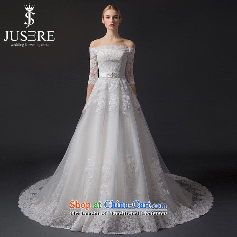 There is a�new course 2015 wedding dresses of the word in the shoulder lace cuff small trailing white Sau San�10