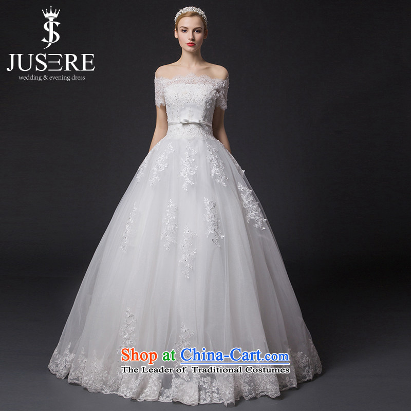 There is a?new 2015-shui wedding dresses to align the word short-sleeve shoulder lace video thin white,?6 code