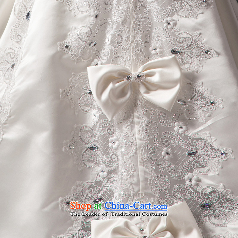 Ensure that the set is by no means the courage to wedding dresses 2015 new anointed chest lace large tail Satin White tailored, is set , , , shopping on the Internet